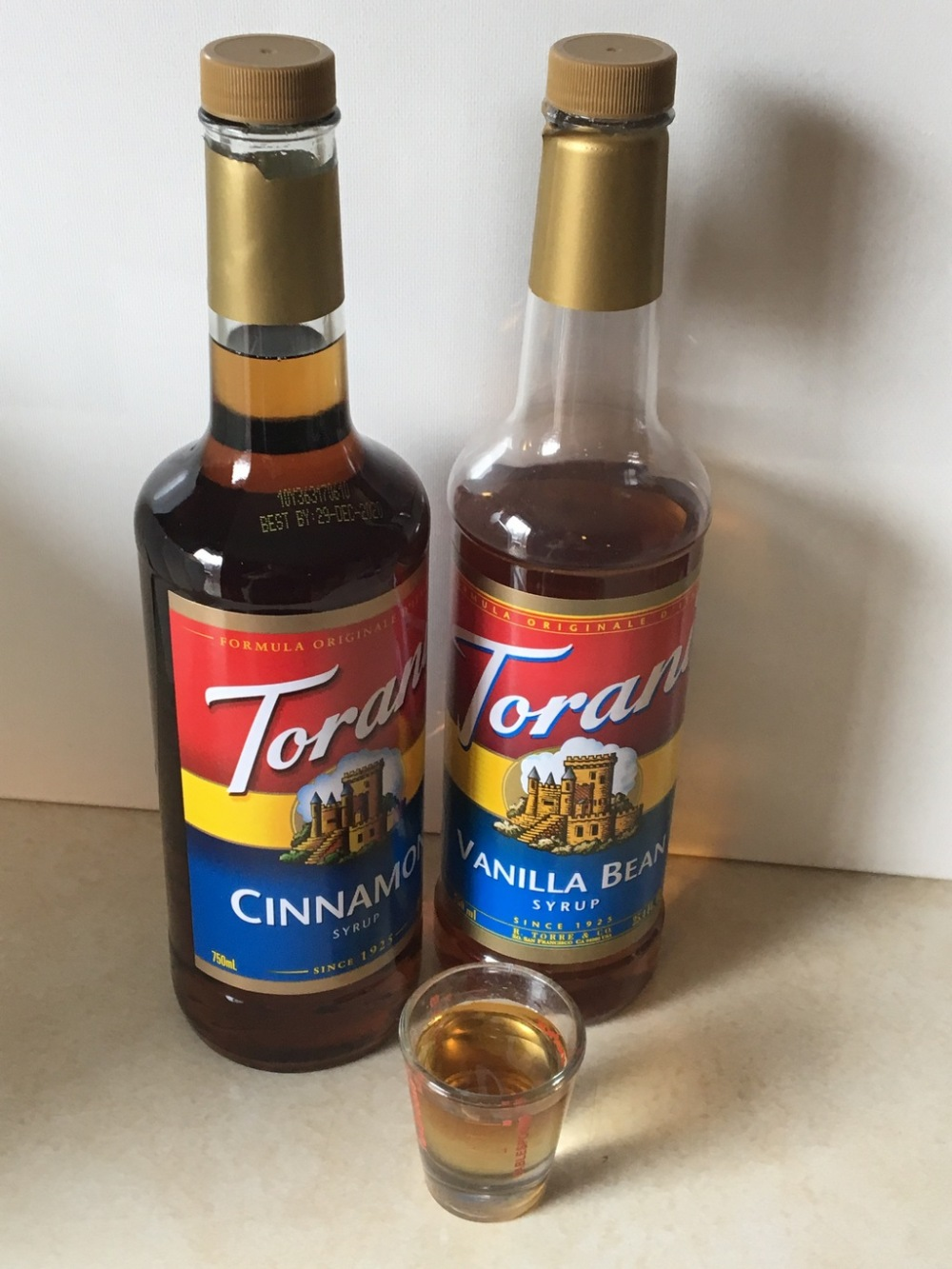 Cinnamon and Vanilla Bean Torani Coffee Syrup